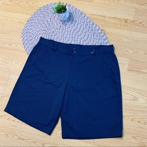 Under Armour blue with white striped men's shorts